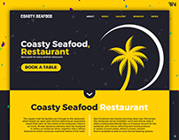 Coasty Seafood Restaurant - Early Landing Page Concept