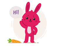 Red Bunny Stickers
