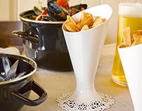 DENTELLE fries holder for ALESSI