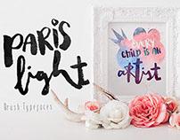 Paris Light Modern Stylish Brush Typefaces
