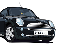 Digital Illustration: MINI R52 Convertible