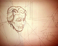 Puntillismo / Tinta sobre papel 50x30