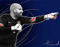 Tim Howard Illustration process