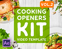 Cooking Intros / Openers - vol 2 After Effects Template