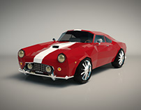 Low Poly Muscle Car 01