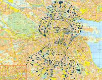 Human Cartography: James Joyce / Dublin / Paper Cut Map