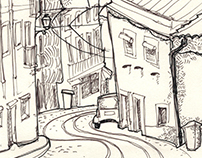 Portugal sketches: streetviews