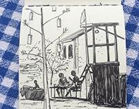 datca sketch time lapse