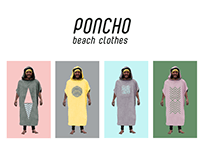 Poncho beach clothes