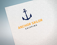 Anchor Sailor Shipping Logo Design