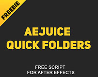 AEJuice Quick Folders - Free Script for After Effects