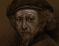 Drawing of a Rembrandt