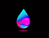 Water Drop colorful Logo