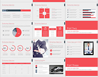 30+ Red company report PowerPoint template