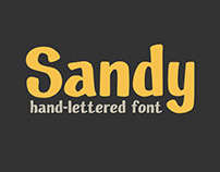 Sandy hand-lettered font