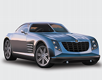 2001 Chrysler Crossfire Vector (Gradient Mesh)
