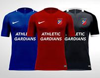 ATHLETIC GARDIANS - FOOTBALL KIT