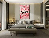 Free Modern Room Interior Frame Mockup