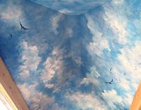 Sky Ceiling Mural