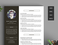 Hipster Resume/CV with Cover Letter