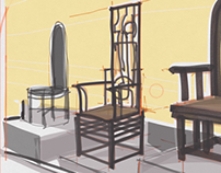 Chairs by Han Meilin