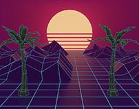Grid, Sun, Palms