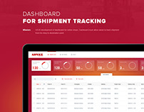 Dashboard for shipment tracking