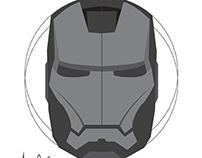 Iron Man 3d model in Illustrator