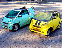 Smart Cabrio Sporty & Wings - Papertoy Photography