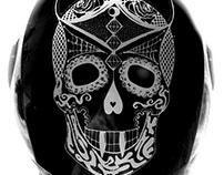 Morotbike helmet sticker design