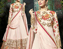 Dignified Floor Length Heavy Embroidered Salwar Kameez