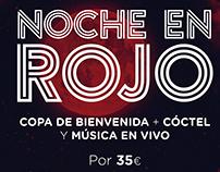NOCHE EN ROJO Mercado Merced (Málaga)
