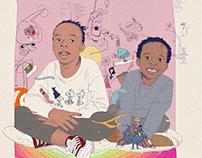 Sibling illustrations