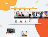 Vesti.az - News website design