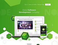 Grexo Landing Page PSD