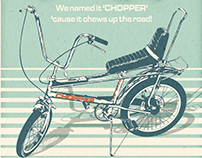 Raleigh Chopper Retro Poster
