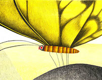 Un papillon. Editions du Buveur d'encre