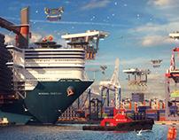"""""""Seaport"""" Scene in Detail"""
