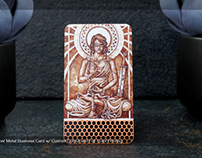 Copper Metal Business Card with Cutout & Color Printing