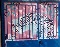 leopard entrance
