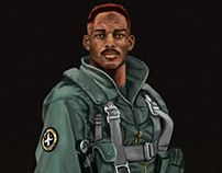 Digital Painting Study – Will Smith - Independence Day.