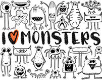 Monster Mash Procreate Brushes and Illustrations