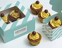Diseño de logotipo y packaging cupcakes-brand