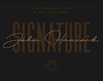 Artisan's Signature Typeface - John Hancock