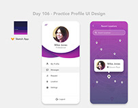 Day 106 - Practice Profile UI Design