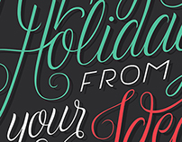 Christmas CARD Lettering