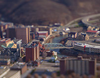 """Tiny Johnstown"" - Tilt-shift Photography Project"