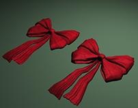 A Christmas bow