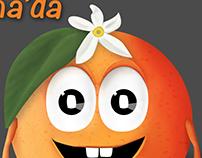 portakal çiçeği karnavalı için maskot