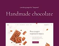 Handmade Chocolate - Landing page